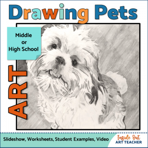 Drawing Fur High School Art Project with Drawing Tutorial and Art Worksheets