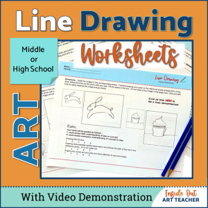 Middle or High School Art Line Drawing Art Lesson