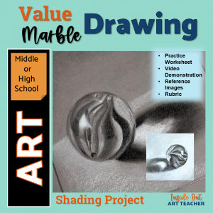 Graphite Drawing Marbles High School Art