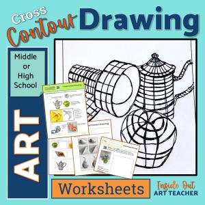Contour Drawing Art Sub Plan Worksheets