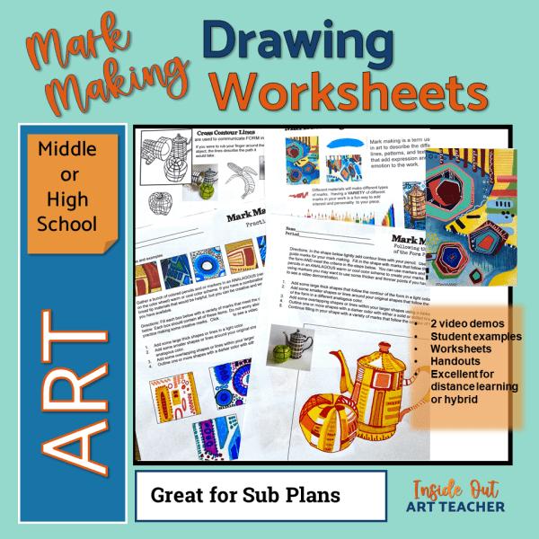 High School Art Worksheets or Art Sub Plans