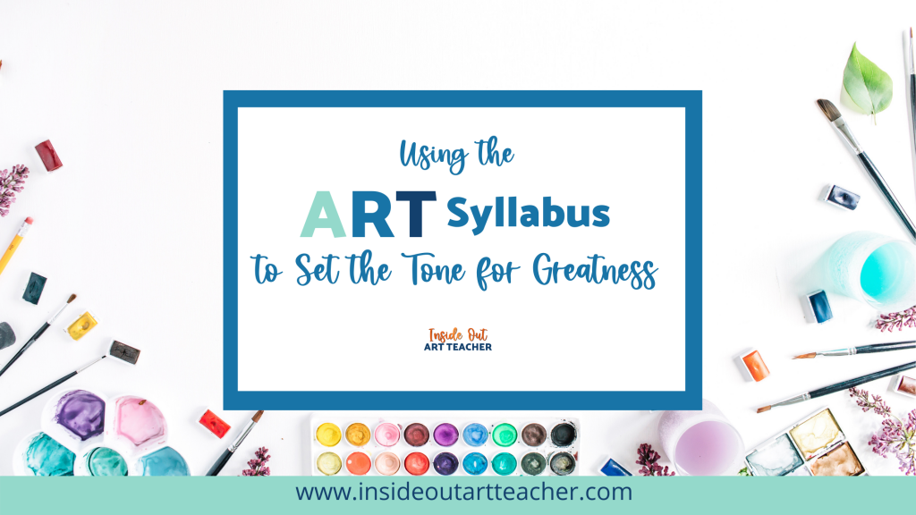 How to use the art syllabus to outline grading policy and procedures for high school art teachers.
